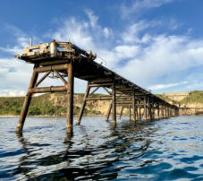 Mining jetty at Catherine Hill Bay
