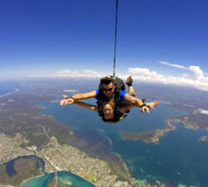 Tandem skydiving over Lake Macquarie