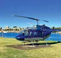 Helicopter flight from Lake Macquarie airport