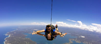 Sky Diving at Lake Macquarie